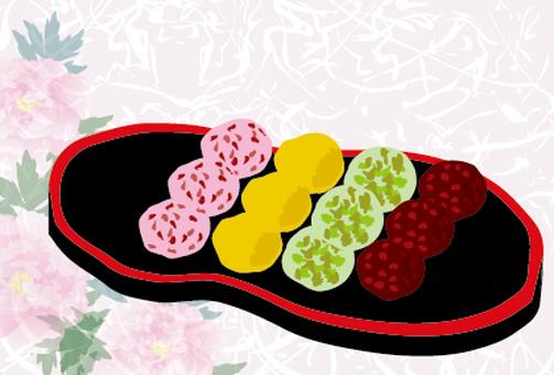 Spring sweets Three color dumpling platter