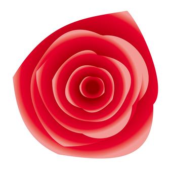 リアルな赤バラアイコン素材
