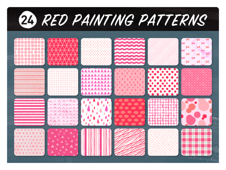 Hand-drawn wind seamless pattern 【Pink】