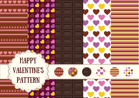 Patterns that can be used with Valentine