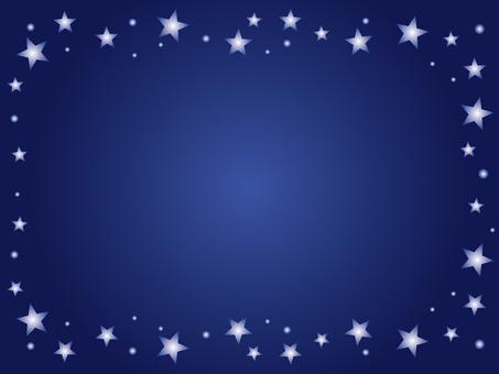 Night sky frame blue 2