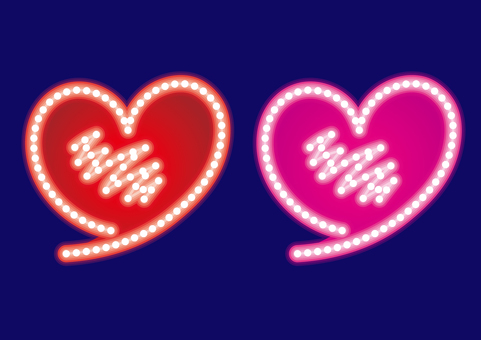 Heart · neon sign set E