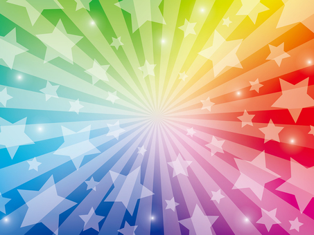 Stars radial background (rainbow color)