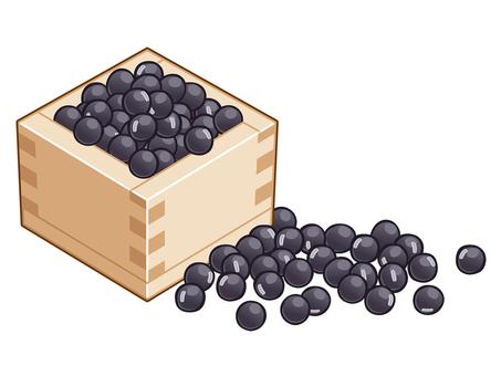 Black soybean illustration