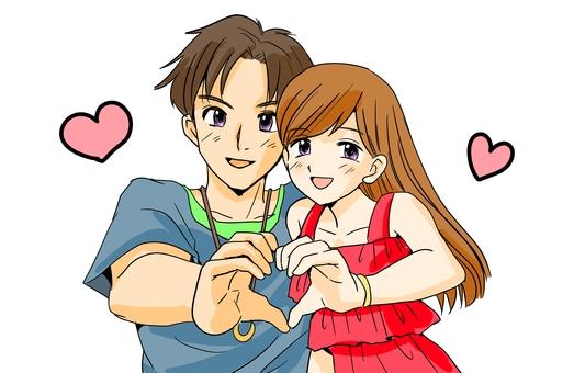 Couple making a heart