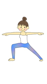 Yoga Fighter's pose Ⅱ