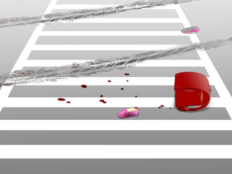 交通事故(赤いランドセル)