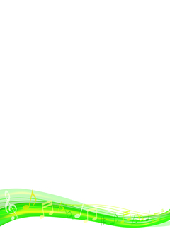 Background material vertical frame of green wave note background