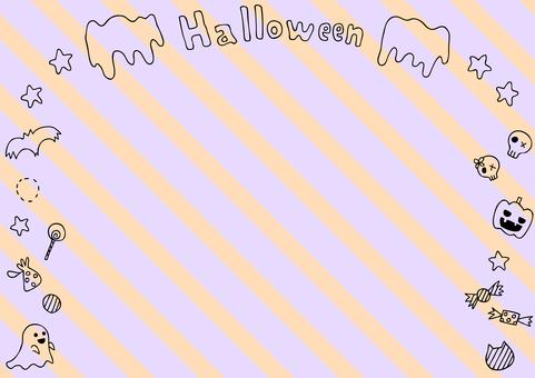 Halloween frame striped background
