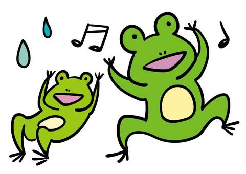 Parents of frogs singing