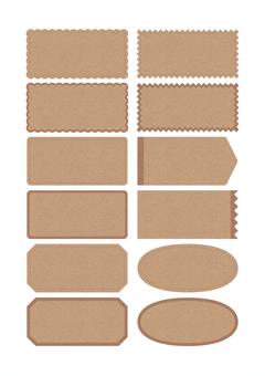 Kraft paper style label