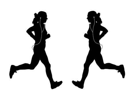 Female runner silhouette 2