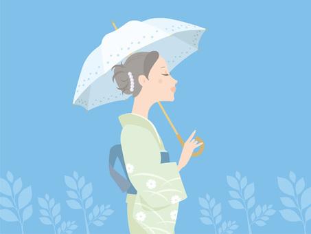 妇女_夏天和服