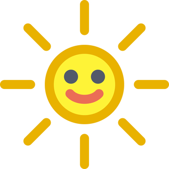 Weather weather character Solar sunny day sunny