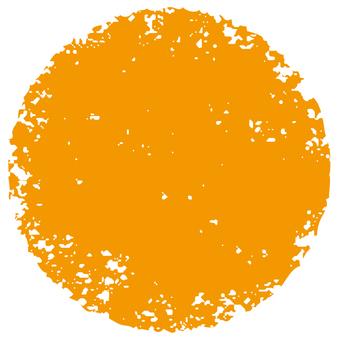 Stamp circle _ orange _ cs