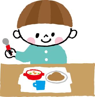 Child's breakfast