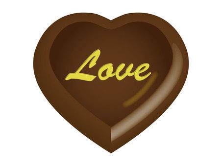 Heart chocolate tea