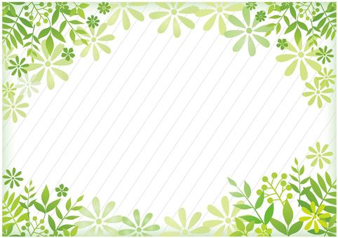 緑の木の葉のグリーン背景