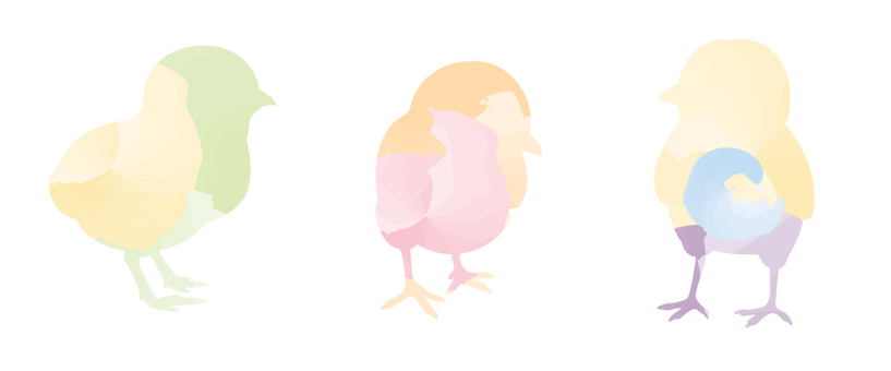 Pastel colorful chick
