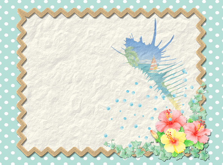 Wrinkle paper and sea ★ 0157-C