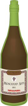 Wine bottle (red)