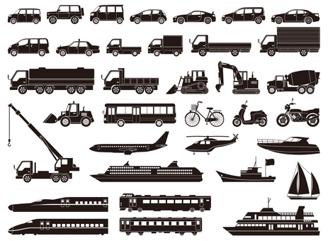 Vehicle icon set
