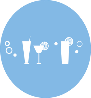 Drink image inverted circle