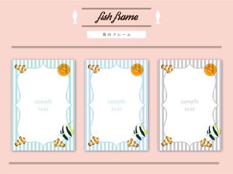 Tropical fish frame set (postcard size)