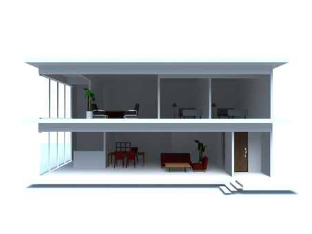 Modern house (section)