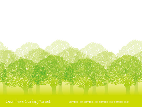 Seamless Four Seasons Forest 1 Spring