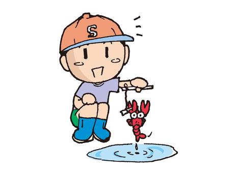 Crayfish fishing