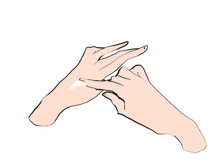 Hand painting cream