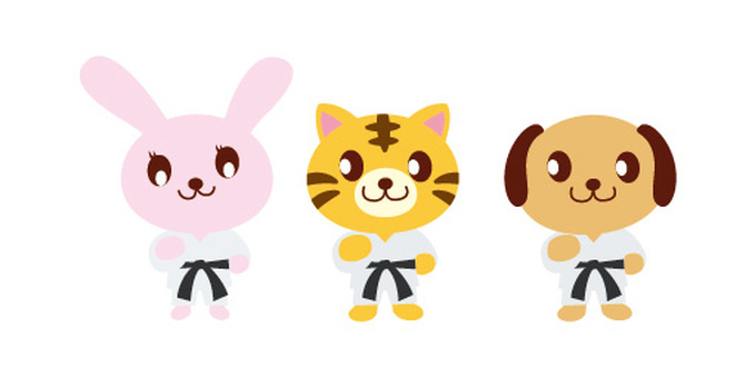 Animal Characters (Sports) Karate
