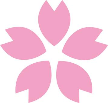 벚꽃의 꽃잎 (사쿠라의 꽃) 벚꽃 아이콘 표시
