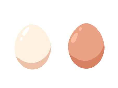 Red egg and white egg