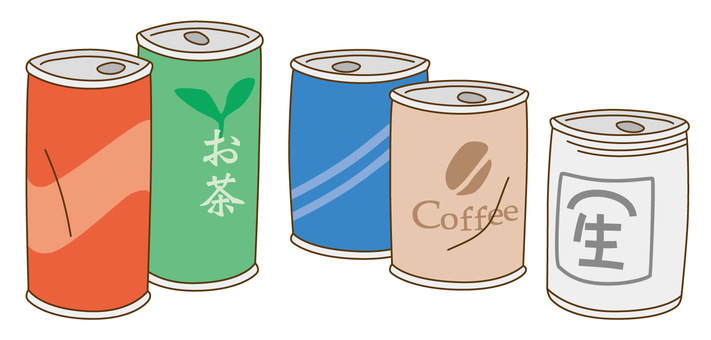 Separation of waste / can of beverage