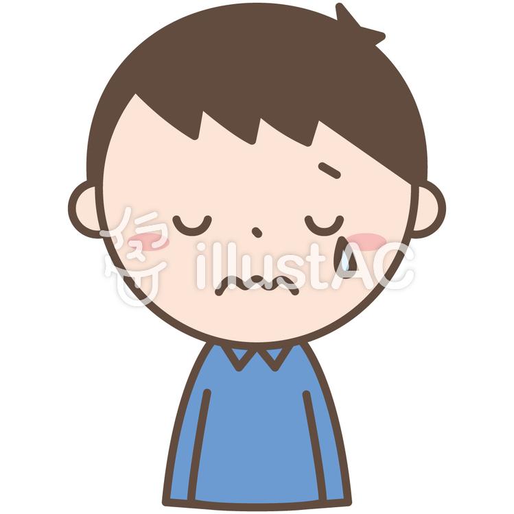 男性1泣く悲しいイラスト No 1097399無料イラストならイラストac