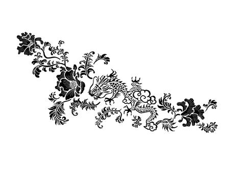 Chinese pattern dragon pattern