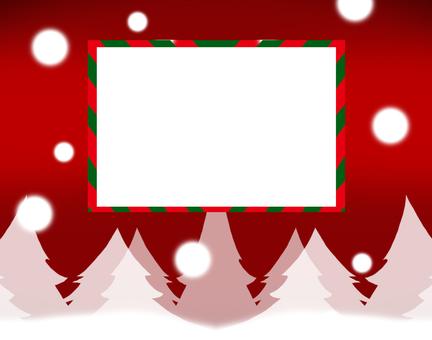 크리스마스 카드 설경