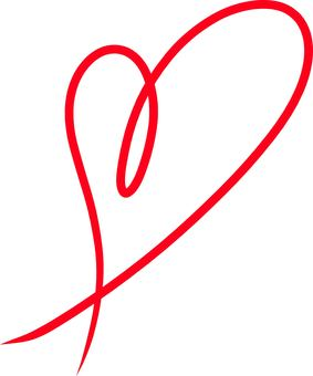 Heart ribbon red