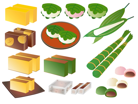 Various Japanese confectionery