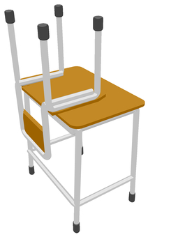 Classroom desk and chair (cleaning)