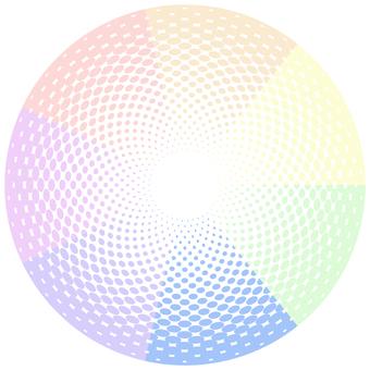 ドットグラデーション6・虹色