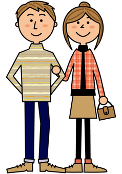 Smiling couple _ whole body