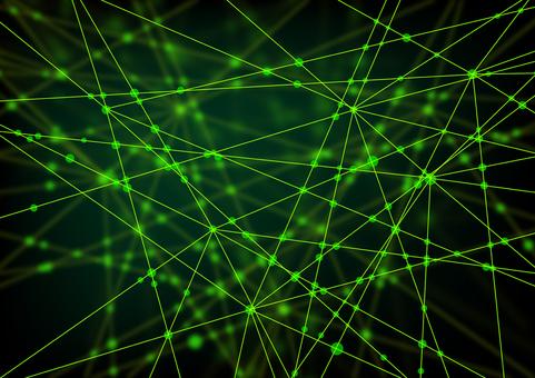 녹색 네트워크 추상 배경 소재