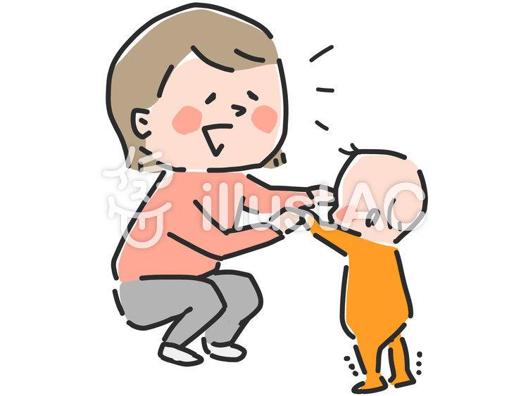 ママと赤ちゃん イラストイラスト No 1351002無料イラストなら