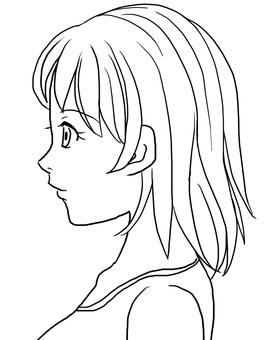 Women's profile (coloring)