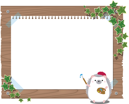 Frame signboard (hedgehog)
