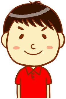 "Polo shirt man ""Red"""