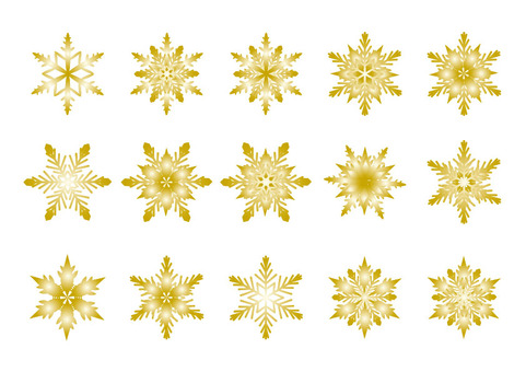 Snow crystal - gold